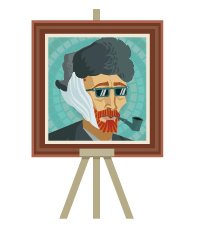 tableau portrait Van Gogh
